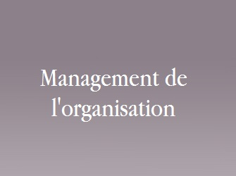 management de l'organisation