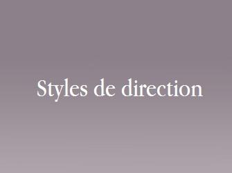 styles de direction