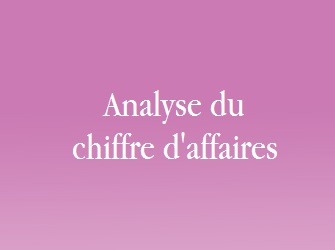 analyse chiffre d'affaires